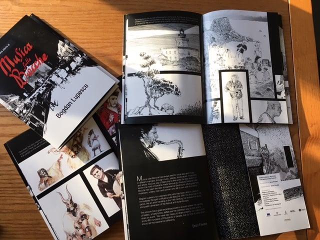Alcune pagine del Graphic Novel Musica sulle Bocche di Bogdan Lupescu